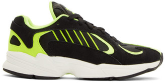 adidas Black and Yellow Yung-1 Sneakers