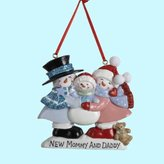 Kurt Adler New Mommy & Daddy Personalized Ornament #A0942 by