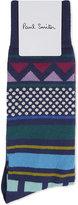 Paul Smith Aztec Pattern Cotton Socks