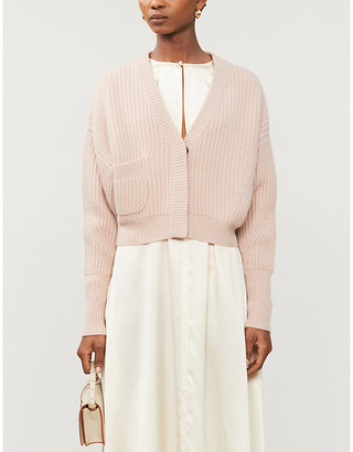 Le Kasha Cropped V-neck cashmere cardigan