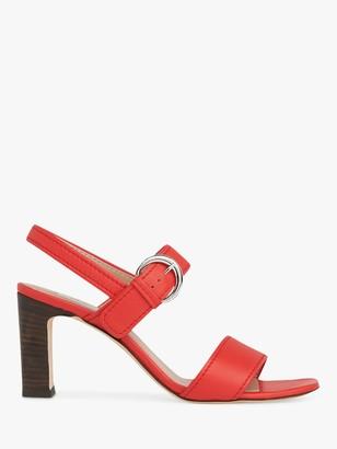 LK Bennett Natalie Leather Buckle Sandals, Red