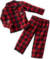 Carter's checkered holiday flannel pajama set - toddler