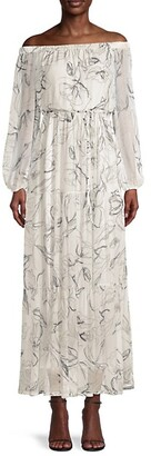 Milly Pierce Off-The-Shoulder Maxi Dress