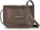 The Bridge Plume Soft Donna Dark Brown Leather Crossbody Bag
