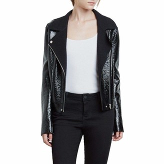 Kenneth Cole New York Kenneth Cole Women's Patent Leather Moto Jacket