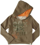 Burt's Bees Baby Loose Graphic Hoodie (Toddler/Kid) - Olive Sprig-4T