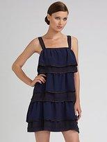 Tiered Silk Tank Dress