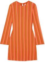 Simon Miller Capol Striped Cotton-blend Tunic - Orange