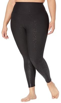 Beyond Yoga Plus Size Alloy Ombre High-Waisted Midi Leggings (Black Foil Speckle) Women's Casual Pants