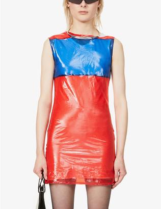BYRONESQUE x Helmut Lang 1995 colour-block woven mini dress