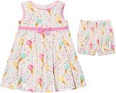 Rachel Riley Ice Cream and Sprinkles Pleated Dress