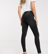 Stradivarius Tall super high waist skinny jean in black wash