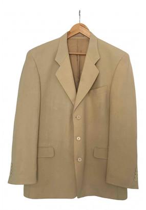 Saint Laurent Yellow Linen Jackets