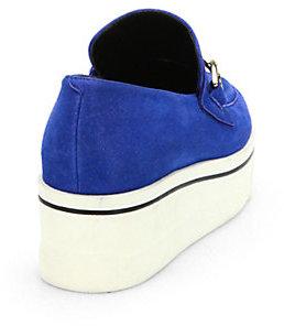 Stella McCartney Faux Suede Platform Loafers