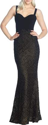 Dress the Population Lorena Lace Mermaid Dress