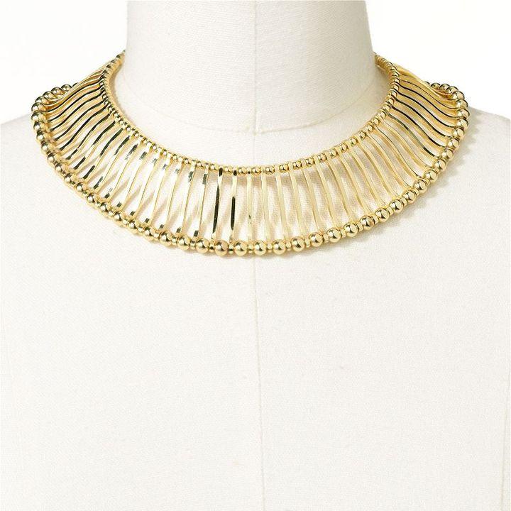 Apt. 9 gold tone bead collar necklace