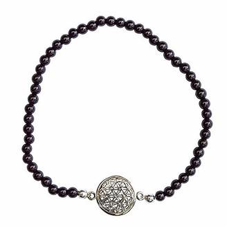 Saraswati Unisex Silver Stretch Bracelet - AC441