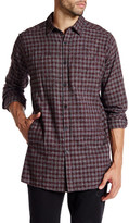 Kenneth Cole New York Long Sleeve Printed Flannel Modern Fit Shirt