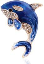 Tagoo Animal Brooch Pin Jewelry Gold Plated Swarovski Crystal