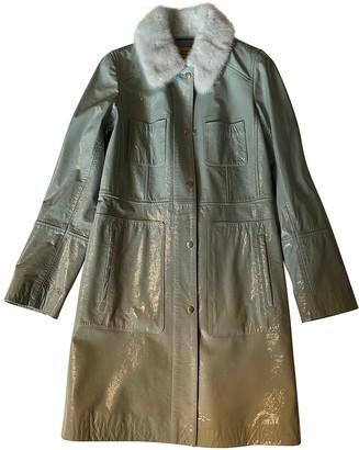 Meteo Green Leather Coats