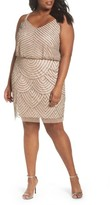 Adrianna Papell Plus Size Women's Beaded Blouson Tank Dress