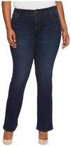 KUT from the Kloth Plus Size Natalie High-Rise Bootcut in Closeness/Euro Base Wash Women's Jeans