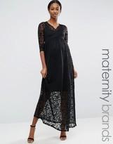 Mama Licious Mama.licious Mamalicious Maternity Lace Maxi Dress