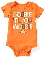 Baby Starters Baby Boys 3-12 Months Thanksgiving Gobble Til You Wobble Bodysuit