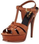 Saint Laurent Tribute Leather 105mm Platform Sandal