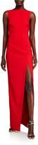 LIKELY Pavlina Bateau-Neck Sleeveless Side Slit Column Gown