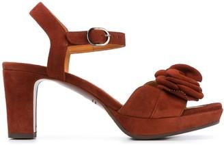 Chie Mihara 75mm Floral Applique Sandals