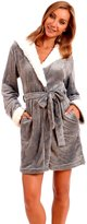 Body Candy Loungewear Body Candy Women's Plush Sherpa Micro Fleece Animal Ear Hooded Robe