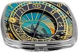 Rikki Knight Close-Up Design Compact Mirror, Astronomy Clock, 3 Ounce