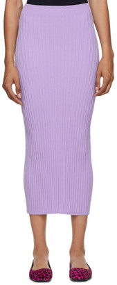 MM6 MAISON MARGIELA Purple Tight Knit Skirt