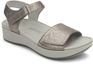 Vionic Adjustable Platform Wedges - Raz Metallic
