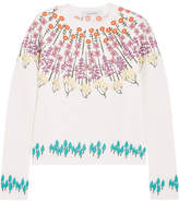 Valentino Embroidered Wool-blend Sweater - Ecru