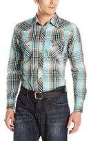 Wrangler Men's Western Jean Long Sleeve Shirt