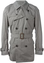 Herno printed trench coat