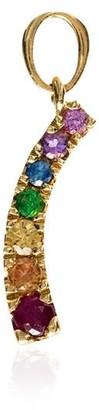 Loquet 18kt gold Rainbow gemstone charm