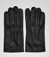 Reiss Reiss Pauly - Formal Leather Gloves In Black