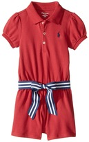 Ralph Lauren Stretch Mesh Polo Romper Girl's Jumpsuit & Rompers One Piece