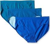 Hanes Women's 3 Pack Ultimate Smooth Tec Hi Cut Panties 43st