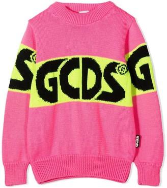 GCDS Pink Merino Blend Jumper