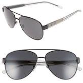 Burberry Women's 57Mm Aviator Sunglasses - Matte Black