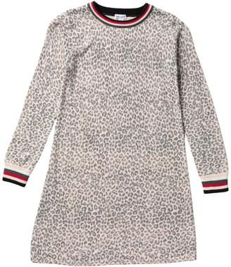 Splendid Long Sleeve Knit Leopard Dress