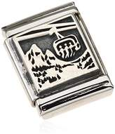 Nomination COMPOSABLE BIG Women's Charm - 925 Silver Oxidized Bergbahn 332111 Stainless Steel / 03