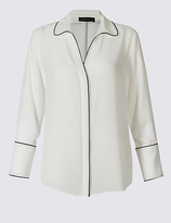 M&S Collection Contrasting Edge Long Sleeve Shirt