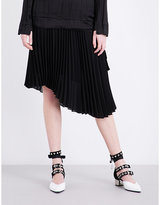 Sharon Wauchob Pleated asymmetric chiffon skirt