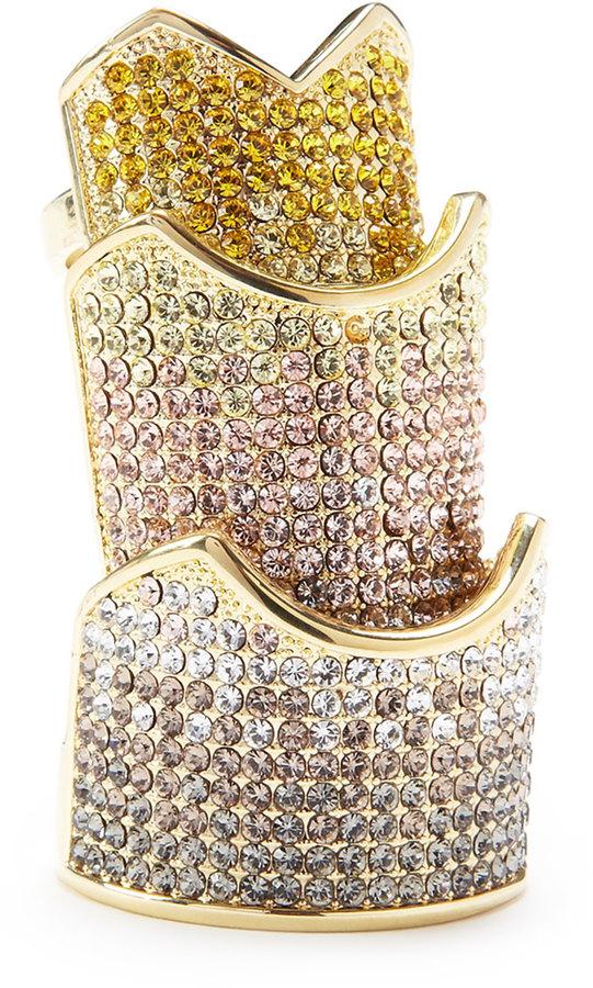 Eddie Borgo Pave-Crystal Hinge Plate Ring