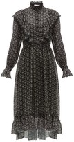 See by Chloe Floral-print Crepe Midi Dress - Womens - Black Multi